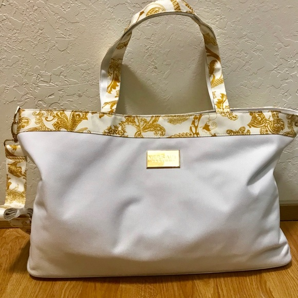 huge inventory buy best top-rated authentic New Versace Parfums oversize tote bag with strrps